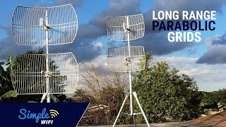 5GHz WiFi Long Range Parabolic Grids - 802.11a/ac Long Range Antennas