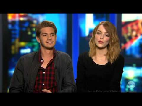 Andrew Garfield & Emma Stone 'Spider-Man's Junk' Australian Tv Interview