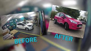 Pink car wrap