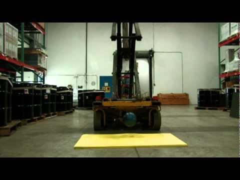 Poron Xrd Forklift Test video