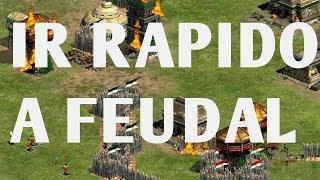 TUTORIAL COMO PASAR RAPIDO A LA EDAD FEUDAL AGE OF EMPIRES 2