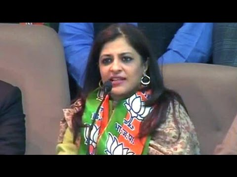 Former Aam Aadmi Party leader Shazia Ilmi joins the BJP