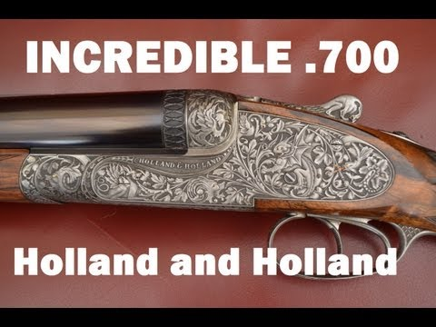 Holland and Holland .700 double rifle at the CLA