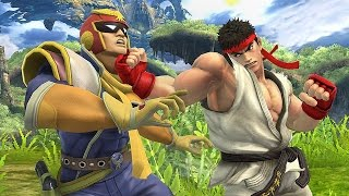 Ryu VS Captain Falcon - Super Smash Bros BATTLES!
