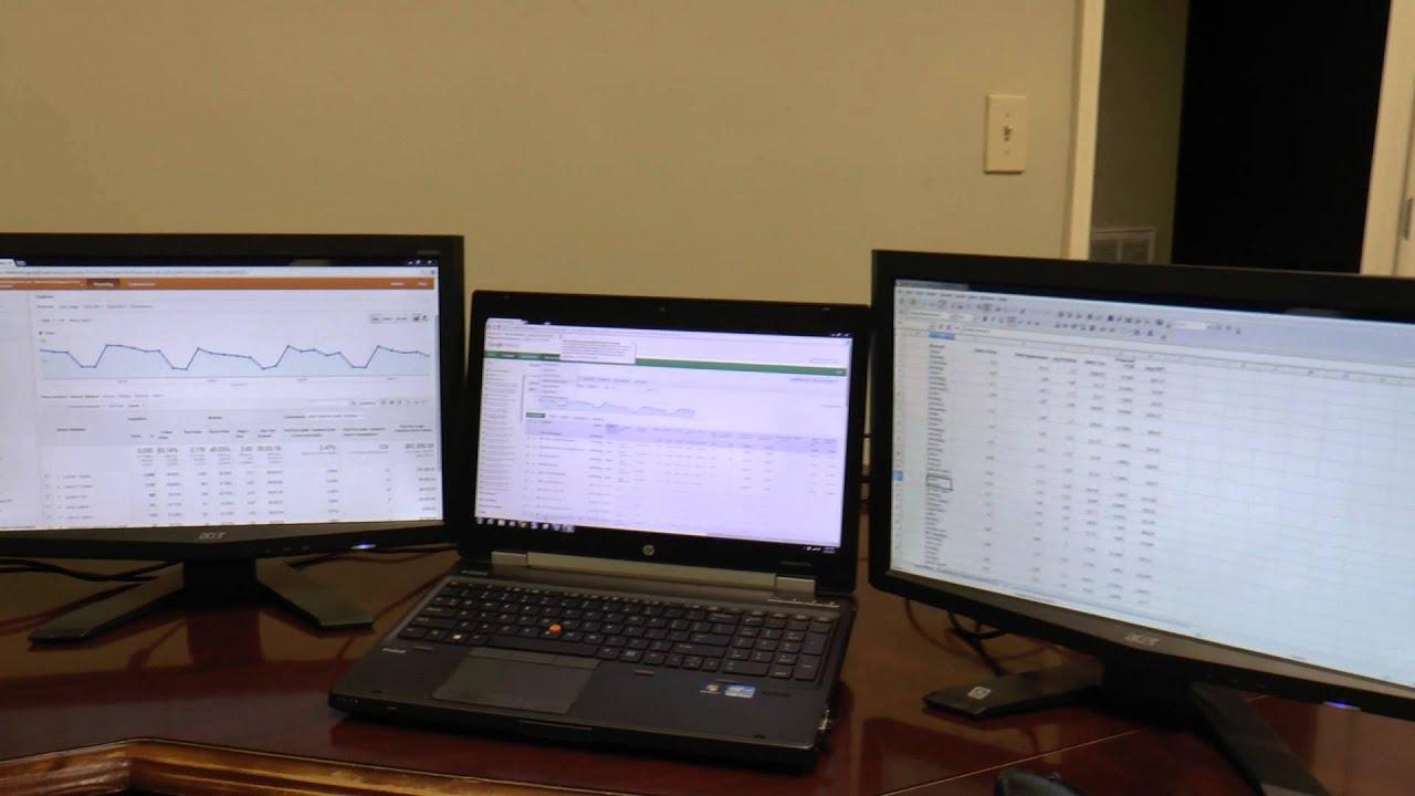 Hp 8570w Elitebook With 4 Monitor Setup Youtube