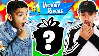 1 Fortnite Win = Mystery Prize For My Little Brother!