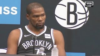 Kevin Durant Nets Interview Press Conference! 2019 NBA Media Day