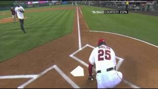 Raw: LA Angels Don Baylor Suffers Leg Injury