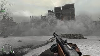 Soviet Soldiers in Heavy City Combat in Stalingrad ! Call of Duty 2
