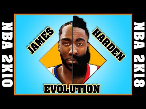 JAMES HARDEN evolution [NBA 2K10 - NBA 2K18]