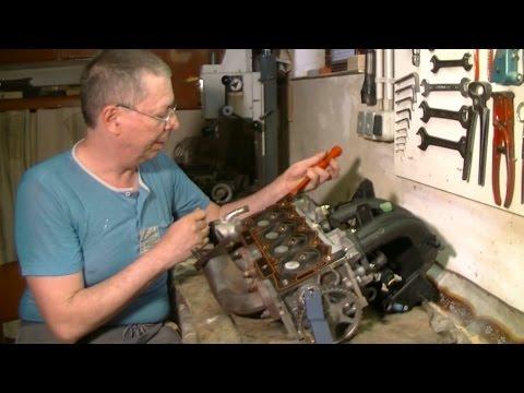 Как заменить прокладку головки блока цилиндров двигателя Peugeot / Sharan TU3 JP