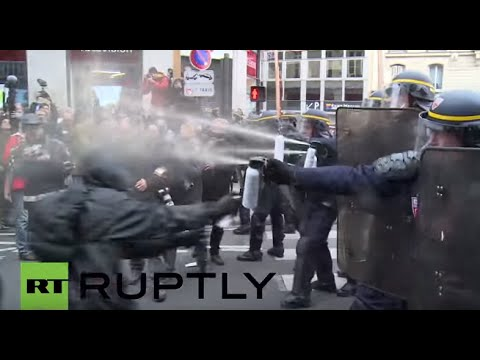 France: Police charge at, pepper spray Paris protesters, arrests made