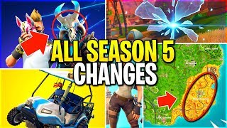 ALL SEASON 5 CHANGES! BAD FOR FORTNITE?? (shotgun nerfs and NEW locations update!)