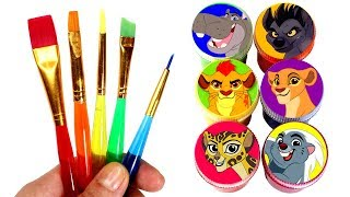 LION GUARD Painting Learn Colors with Kion Bunga Beshte Fuli Janja Kiara Lion Guard Surprise Toys
