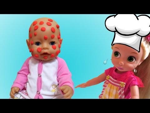 Кукла Беби Борн и Рапунцель остались одни дома  Doll Baby Born and Rapunzel were alone at home