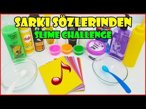 Sizden Gelen Şarkı Sözlerinden Ne Çıkarsa Slime Challenge - Vak Vak TV