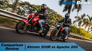 Hero Xtreme 200R vs Apache 200 - Entry-Level 200cc Battle   MotorBeam