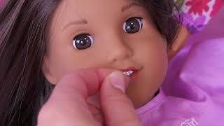 Sara baby doll 🤗 visit doctor👩⚕️ with braces toy for american girl dolls #2