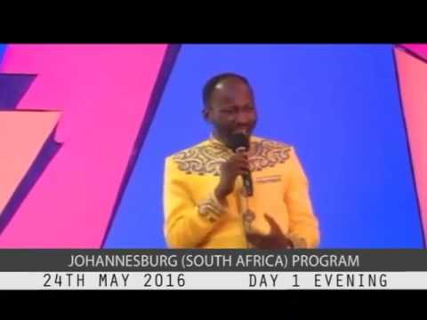 JOHANNESBURG SOUTH AFRICA MAY 2016 MEETING with Apostle Johnson Suleman #day 1 evening