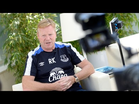 Ronald Koeman's Evertontv Exclusive