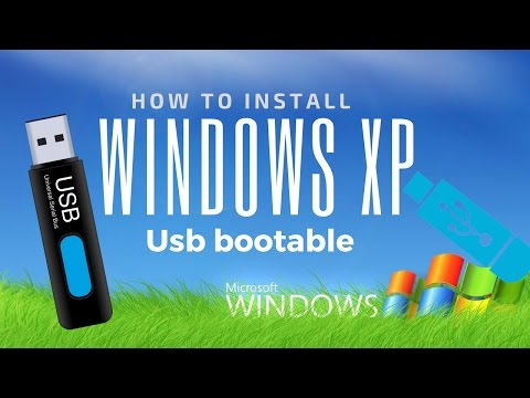 How to install Windows XP usb