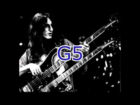 Geddy Lee vocal range (A2-G5)