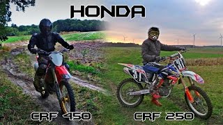 Honda CRF250 vs CRF450