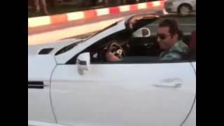 Bassem Yakhour driving his car Mercedes SLK 2014