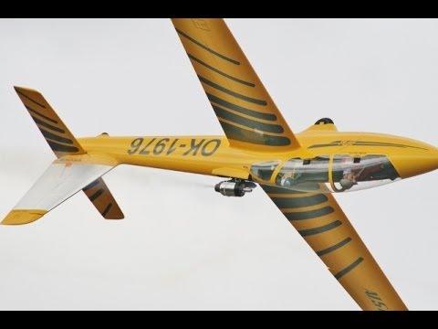50% SCALE FOX JET GLIDER ALI MACHINCHY BMFA NATS RC MODEL AIRCRAFT SHOW - 2014