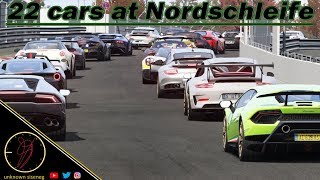 22 cars at Nürburgring W/Lamborghini Huracan Performante / Assetto Corsa