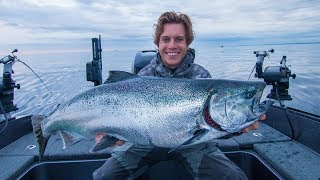 Catch n cook HUMONGOUS King Salmon!