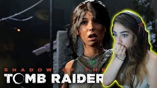 REACTING TO SHADOW OF THE TOMB RAIDER Gameplay Trailer (E3 2018)