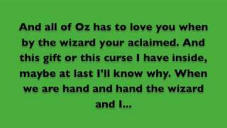 The Wizard and I Lyrics - Wicked