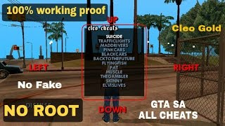Cheats for GTA san andreas no root 100% cleo gold