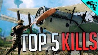 Battlefield 1 Top 5 LUCKIEST Kills (Sniper Intercept, 9 Kills 1 Bullet, Horse Crushed) WBCW #164