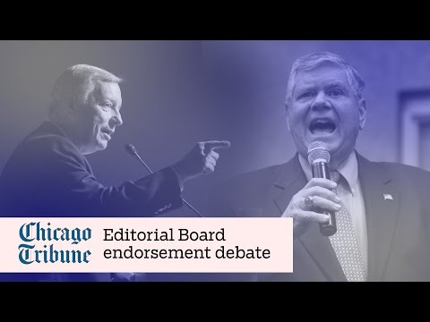 Durbin, Oberweis Tribune Editorial Board endorsement debate