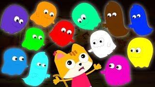 Twelve Little Ghosts Scary Nursery Rhymes | Halloween Songs For Kids & Children By Bud Bud Buddies