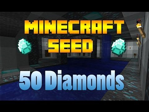 "Minecraft Seeds - ""50 Diamonds"" (1.7.9 Best Minecraft Survival Island Seed)"