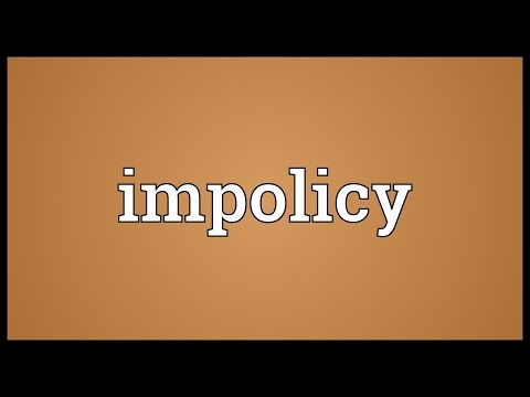 Header of impolicy