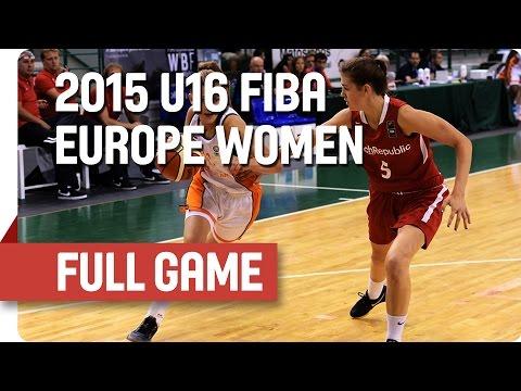 Netherlands v Czech Republic - Group A - Full Game - 2015 U16 European Championship Women