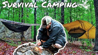 Survival Camping in National Forest for 72 Hours - Day 1