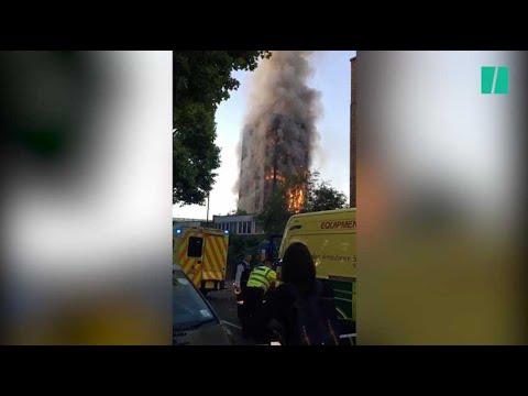 Un gigantesque incendie dévaste une tour d'habitations à Londres