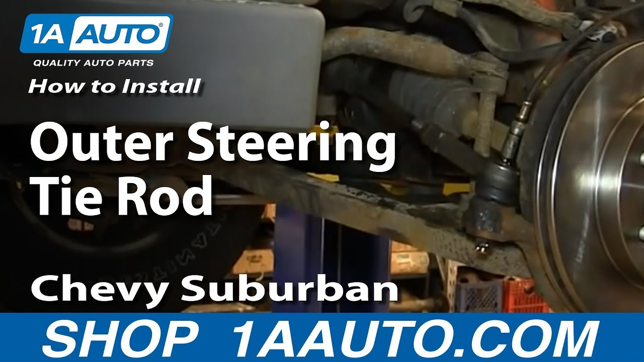 How To Install Replace Outer Steering Tie Rod 2000