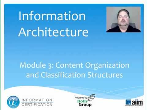 Content Organization and Classification Structures
