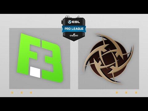 CS:GO - FlipSid3 vs. NiP [Overpass] Map 1 - ESL Pro League Season 4 - EU Matchday 25