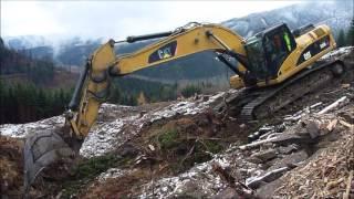 CAT 325D tree stumps