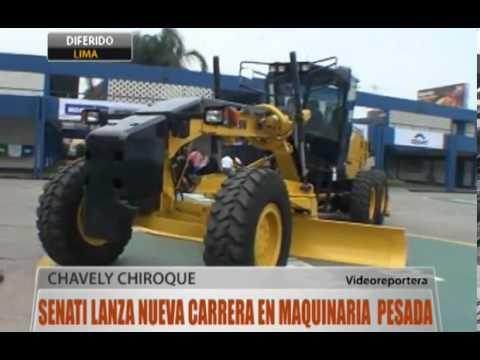 SENATI lanza nueva carrera en maquinaria pesada