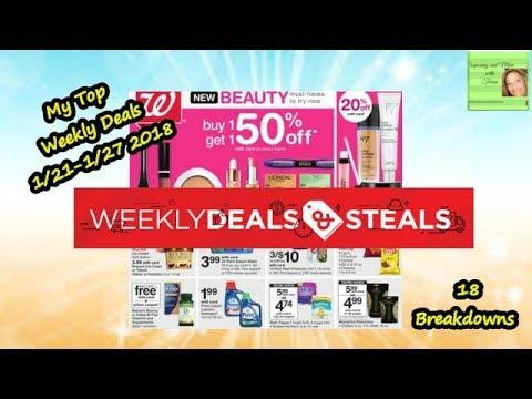 1/21-1/28 WALGREENS Preview Breakdown Deals & Steals/ 18 Deals
