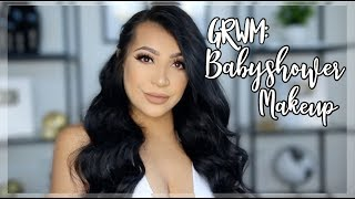 GRWM: MY BABY SHOWER MAKEUP, HAIR + OUTFIT
