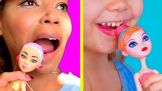 Mom Tries Never Too Old For Dolls! DIY Doll Makeup Ideas Family Vlog